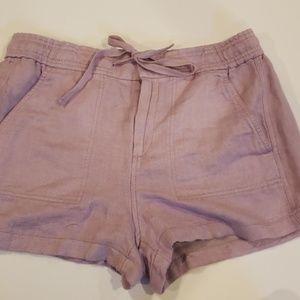 Lou & grey medium purple shorts elastic waist